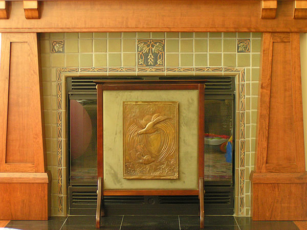 Arts and crafts mantels craftsman fireplace mantel auto for Craftsman style fireplace mantel plans