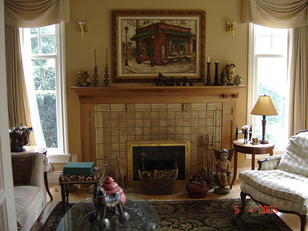 craftsman fireplace mantels quotes
