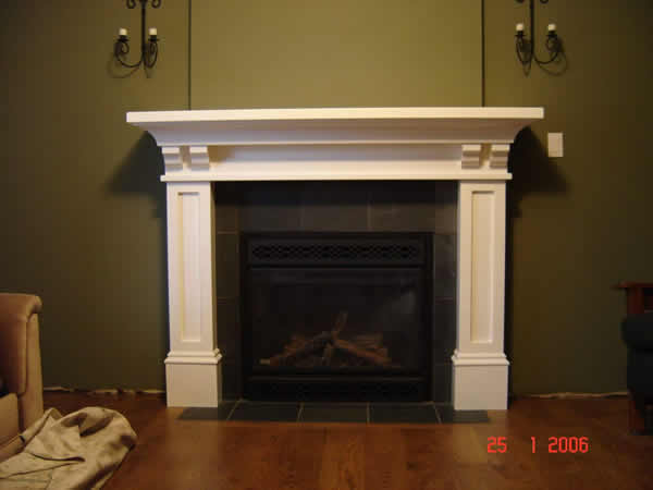 Craftsman fireplace mantel designs for Craftsman style fireplace mantel plans