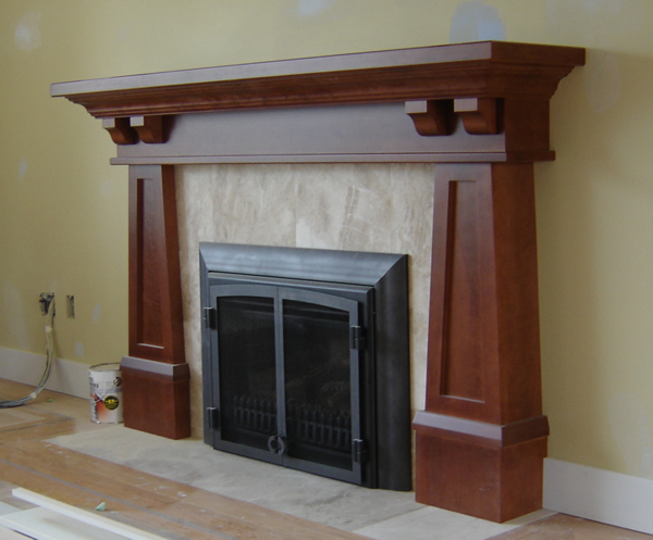 Craftsman fireplace mantels for Craftsman fireplace designs