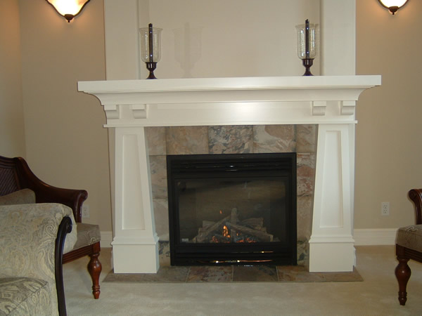 Craftsman fireplace mantels quotes for Craftsman fireplaces photos